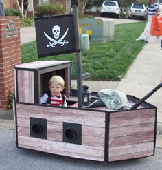 The Pirate Ship my Husband made from a Radio Flyer wagon.