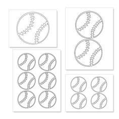 Printable Baseball Shapes Travel Baseball, Baseball Boys, Softball Mom, Baseball Stuff, Baseball Treats, Baseball Gifts, Baseball Party, 3rd Birthday Party For Boy, Birthday Boy Shirts