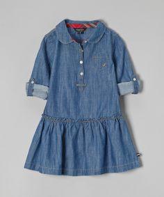 Blue Denim Chambray Dress -