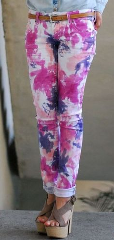 Painting with fabric dyes gives you the freedom to DIY the tie dye pattern of your fashionista dreams!