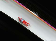 DAY 4:  Ewa Kuls of Poland makes a run during the Women's Luge Singles