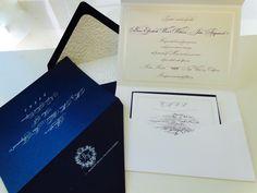 Napa Wedding Invitation in Navy Blue & White xo embellishments invitations