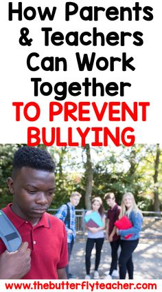 These effective bullying prevention techniques work for parents and teachers no matter what age/grade your kids. Teacher Blogs, Teacher Resources, Behavior Management, Classroom Management, Different Types Of Bullying, Verbal Bullying, Teaching Kindness, Social Skills For Kids, Classroom Procedures