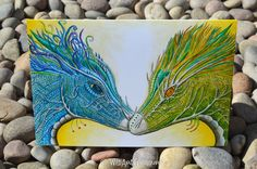 Dragon Card, Original Painting, Fantasty Art Greeting Card For All Occasions - pinned by pin4etsy.com
