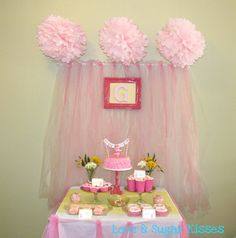 {DIY} Tutu Party Backdrop ~ using a curtain rod,   (2) 3M adhesive wall hooks and  tulle