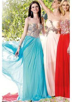 2015 Fall Modern Sheath/Column Sweetheart Long Prom Dresses with Beading