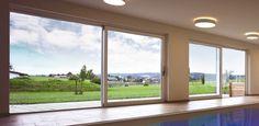 Aluminium-Holz-Hebeschiebetür von Kneer-Südfenster