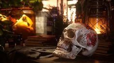Sugar skull, calavera, 3d render, fstorm, Día de Muertos