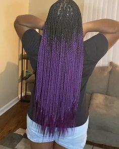 Short Box Braids Hairstyles, Natural Hairstyles, Bronze Eye Makeup, Types Of Braids, Black Braids, Protective Styles, Purple And Black, Hair Ideas, Black Women