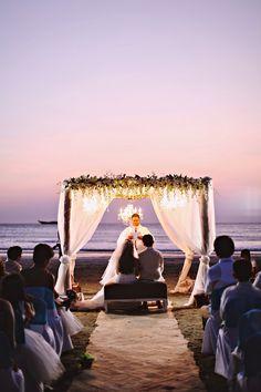Cascading orchids on my wedding gazebo / chuppah / altar