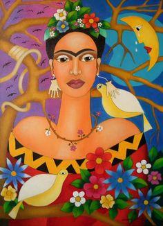 pinturas naif Frida - Buscar con Google