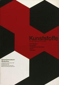 Gewerbemuseum Winterthur / Kunststoffe / Poster / 1958