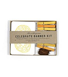 Celebrate  Letterpress DIY Banner Kit by thimblepress on Etsy, $22.00 | Consider making