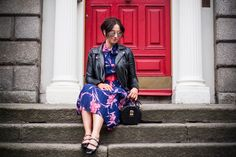 STYLE GAMBLERS : Edgy vs Stylish for Style afternoon by Veronika #Streetstyle#blogger#fashion#floraldress#ootd