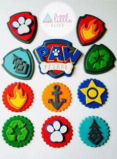 Paw Patrol Cups, Torta Paw Patrol, Paw Patrol Figures, Paw Patrol Party, Paw Patrol Birthday, Paw Patrol Cupcake Toppers, Paw Patrol Cupcakes, Fondant Cupcake Toppers, Cupcake Art