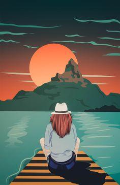 sunrise illustration - every sunrise is a opportunity to reset Sunrise Drawing, Sunrise Painting, Sunrise Colors, Sunrise City, Sunrise Logo, Sunrise Tattoo, Sunrise Quotes, Beach Sunrise, Tequila Sunrise