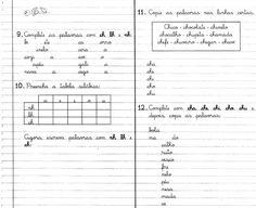 Atividades com as sílabas CHA CHE CHI CHO CHU CHÃO - Livro Caderno do Futuro 1ª Série. - Aprender e Brincar