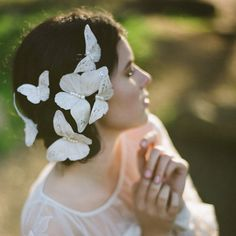 Whimsically Elegant <3 ~OVW  Ready to ship Butterfly Bridal Hairpins by EricaElizabethDesign, $165.00
