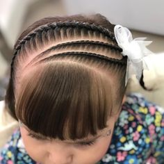 Cute Hairstyles For Kids, Easy Hairstyles For School, Baby Girl Hairstyles, Braided Hairstyles, Easy Hairstyle Video, Volleyball Hairstyles, Lace Front, Little Girl Braids, Toddler Hair
