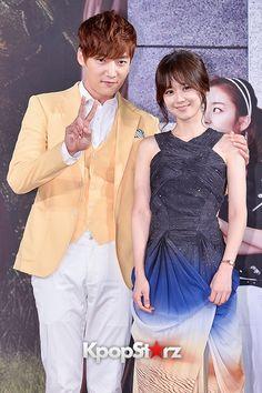 チェ・ジニョク、チャン・ナラの肩を抱きながら登場!「運命のように君を愛してる」制作発表会【写真】
