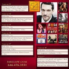 Week of February 23rd, 2015 performance schedule. Click to buy tickets.