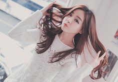 ulzzang with really pretty hair