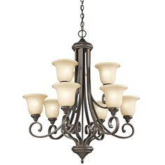Kichler 43159OZL16 - Monroe Chandelier 9Lt LED in Olde Bronze