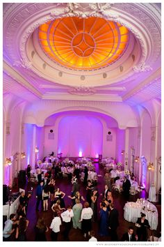 Dance floor and ceiling  The Bourne Mansion  www.ModernWeddingPhotography.TV