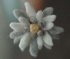 felted edelweiss