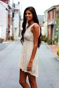 Sleeveless Sequined Lace Dress With Open Back #May23Online $52.00