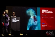 Beatrice Susa (Co-Founder of Arte Laguna Prize) & Sara Tortato (Arte Laguna Prize) on stage to award the Special Prizes Artist in Gallery #artelagunaprize Credit Nicola D'Orta