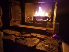 Chilly Thursday night in December... a fire, music, and Sangria ❤