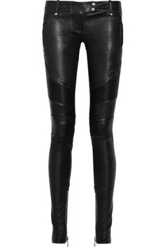 balmain leather pants. I love leather pants.  Wish I could wear them.