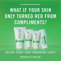 Sensitive Skin? Try Today! Rodan and Fields Soothe Regimen Today...Click Link below to view product.   https://nataliesmith1.myrandf.com/Shop/Soothe