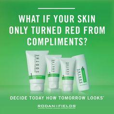 Sensitive Skin? Try Today! Rodan and Fields Soothe Regimen Today...Click Link below to view product.   https://nataliesmith1.myrandf.com/Shop/Soothe