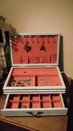 Upcycled Shabby Chic Jewelry Box