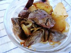 rakottkert: Birsalmabefőtt és nyúlmáj Pot Roast, Pork, Meat, Ethnic Recipes, Carne Asada, Kale Stir Fry, Roast Beef, Pigs