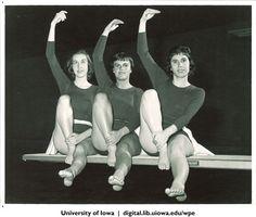 Synchronized swimmers, University of Iowa, 1960s | University of Iowa Physical Education for Women | Iowa Digital Library