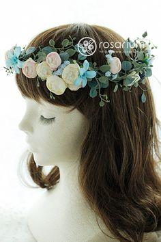 ナチュラル花冠 アーティフィシャルフラワー|ロザブロ ウェディングフラワー&ギフトフラワー