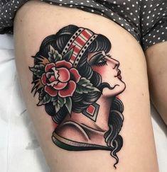 - My list of best tattoo models Traditional Gypsy Tattoos, Traditional Tattoo Portrait, Traditional Tattoo Inspiration, Traditional Tattoo Woman, Traditional Tattoo Old School, Traditional Tattoo Design, American Traditional Tattoos, Body Art Tattoos, Sleeve Tattoos