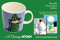 Moomin mug - Snufkin by Arabia - Moomin Moomin Mugs, Tove Jansson, My Childhood, History, Comics, Tableware, Character, Moomin Valley, Design