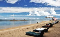 Sanur beach is also dubbed as the sunrise coast of Bali, opposite to Kuta beach. Sanur beach is often used as the right choice to watch the sunrise because of its location in the east of the island of Bali. Sanur Beach Bali, Sunrise Landscape, Beautiful Sunrise, Balinese, Airplane View, Natural Beauty, Coast, Island, Explore