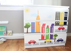 Ikea Hack Update Malm Dresser with Decals | Mingo & Grace