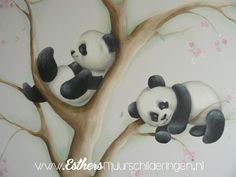 Muurschilderingen Babykamers - Esthersmuurschilderingen Baby Nursery Wallpaper, Jungle Room, Baby Room, Kids Room, Snoopy, Disney Characters, Children, Drawings, Painting