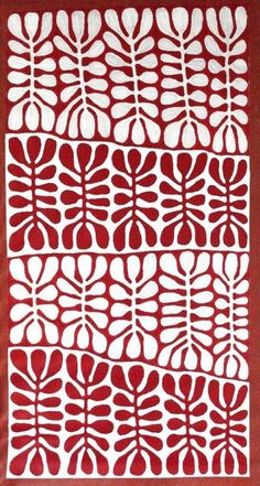 Frances Keevil Gallery Indigenous Art - Mitjili Napurrula This work is strictly copyright © Indigenous Art Textile Patterns, Textile Design, Fabric Design, Print Patterns, Surface Pattern Design, Pattern Art, Kunst Der Aborigines, Red And White Quilts, Hawaiian Quilts