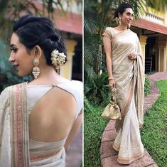 design with images of both front and back neck. These blouse patterns work with a variety of different sarees which you can flaunt at different special occasions with styling tweaks. Latest saree blouse designs front and back Indian Blouse Designs, Choli Designs, Blouse Back Neck Designs, Choli Back Design, Fancy Blouse Designs, Latest Saree Blouse Designs, Sari Bluse, Fashion Models, Women's Fashion