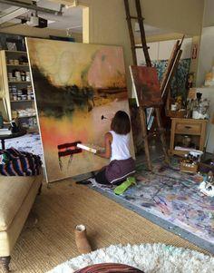 Jada Pinkett Smith spends every Saturday painting in her art studio. Jada Pinkett Smith spends every Saturday painting in her art studio. Art Studio Design, My Art Studio, Painting Studio, Art Design, Design Ideas, Design Inspiration, Dream Studio, Studio Ideas, Creative Design