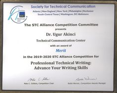 """""""Professional Technical Writing"""" Course Wins STC Award! 