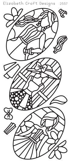Elizabeth Craft Designs Peel-Off Sticker -2557B Jackie's Dolls in Ovals