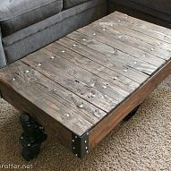 Factory cart table using reclaimed wood